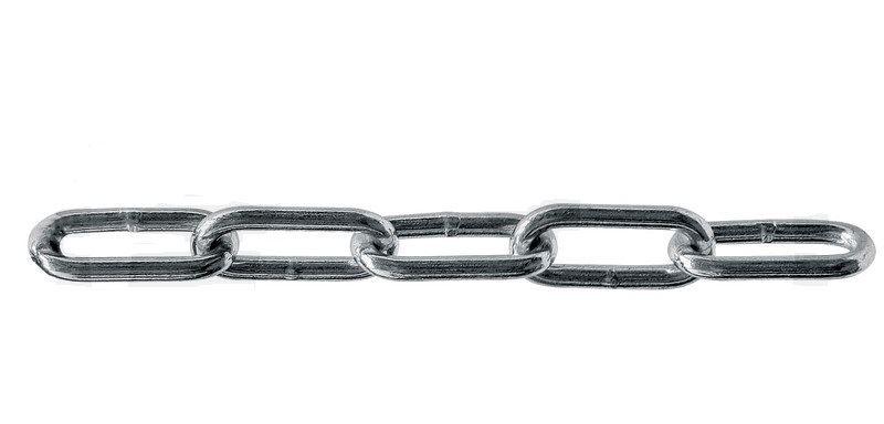 Langgliedrige Rundstahlketten DIN 5685-C (ungeprüft)